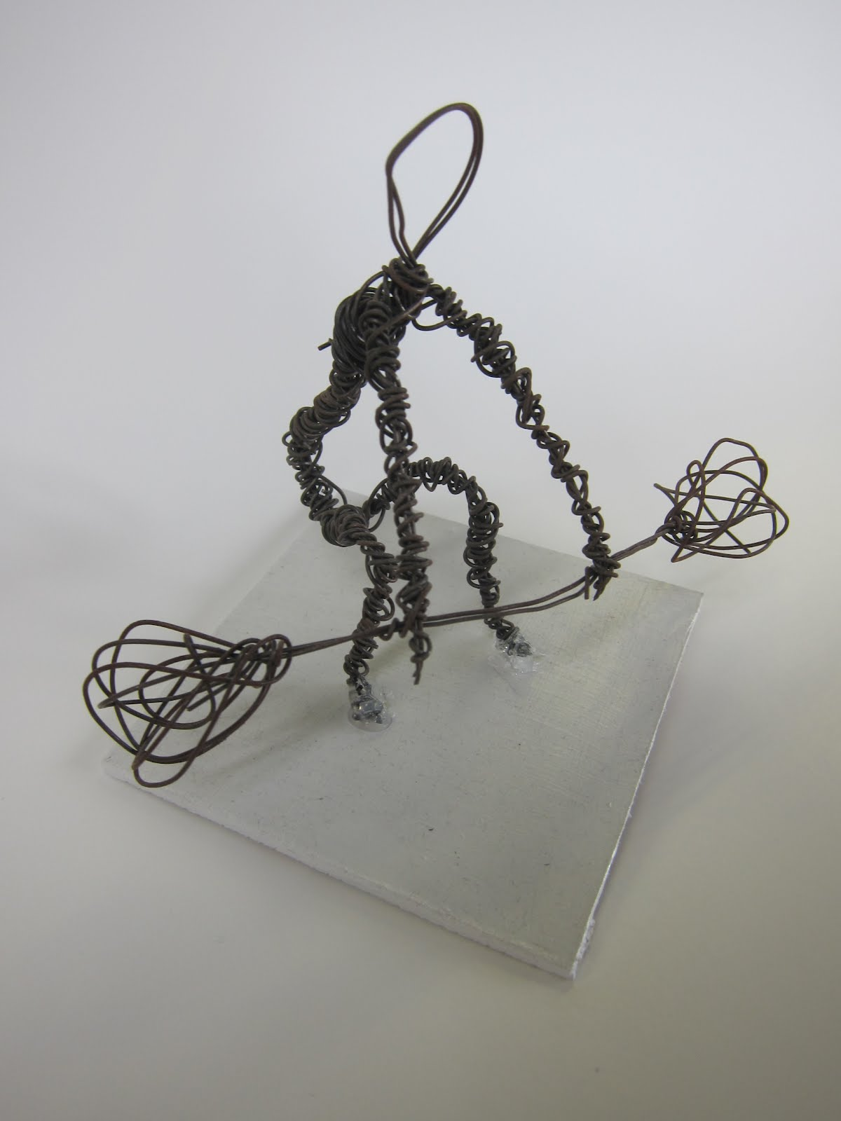 how to make wire sculpture human figure