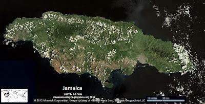 Mapa de Jamaica, vista aérea