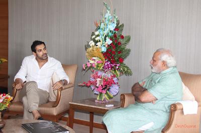 John Abraham meets the Narendra Modi today at capital office