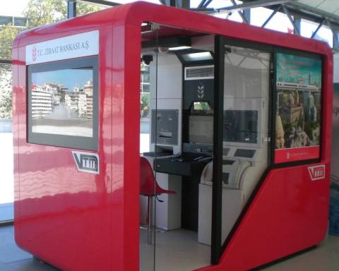 Kiosque vidéo de Ziraat Bank