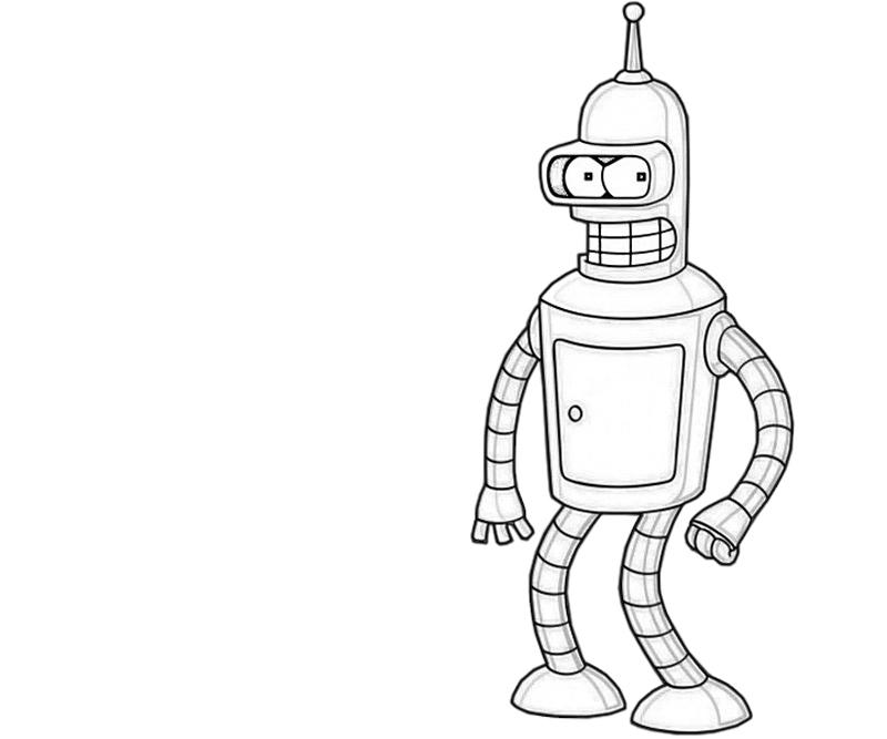 bender-look-coloring-pages