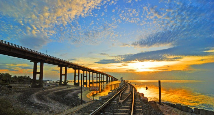 A Scenic Ride Over the Century Old Pamban Bridge in India