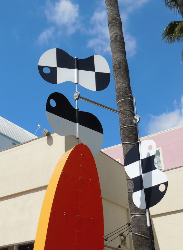 Surfboard Tiki sculpture Peter Shire