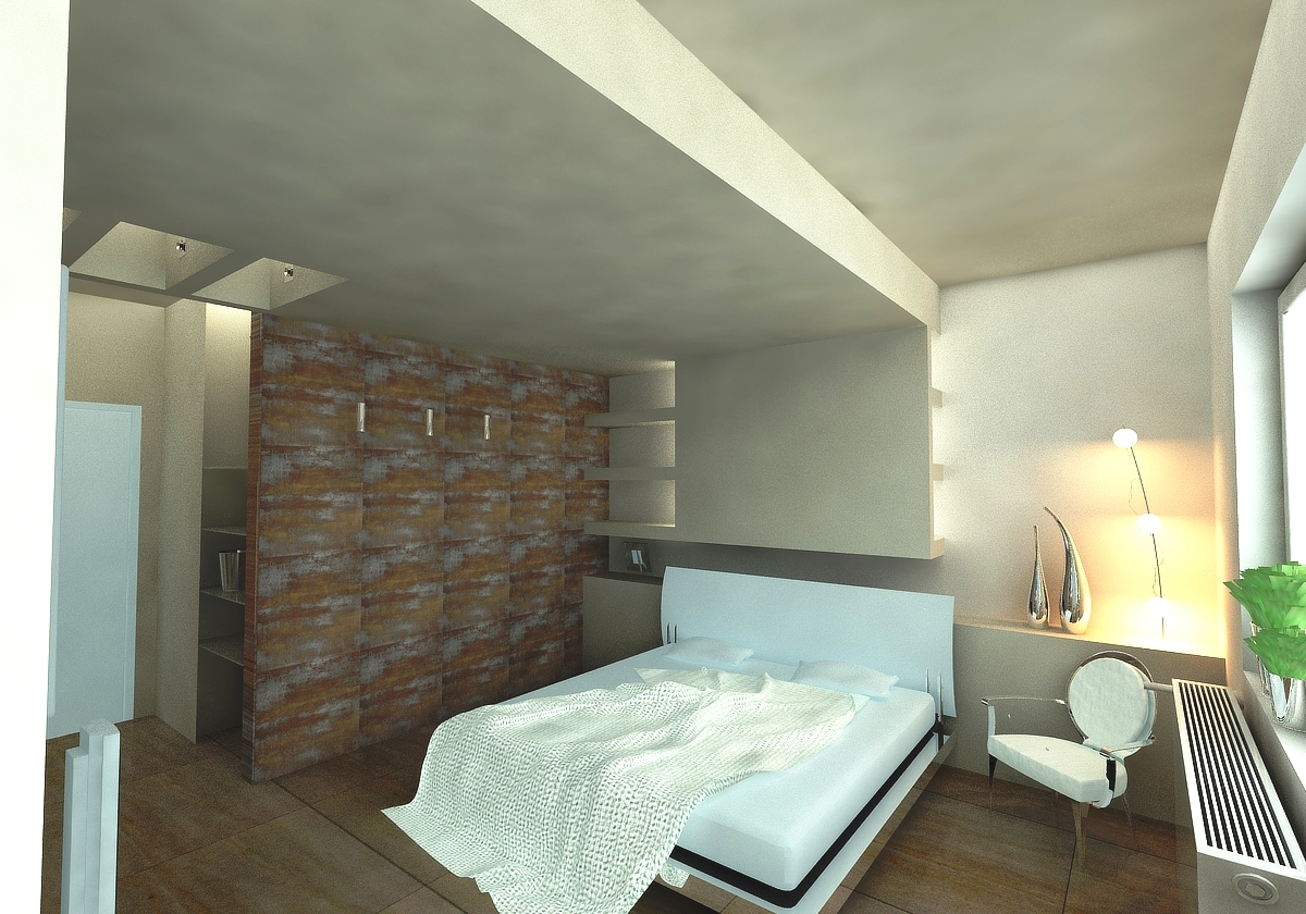 DrotARCH Duplex Apartment Master Bedroom Visualizations