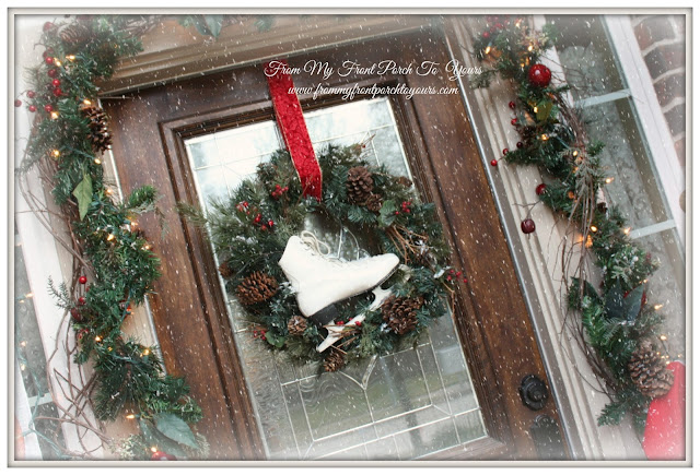 From My Front Porch To Yours Christmas Front Porch Christmas Ice Skate Wreath