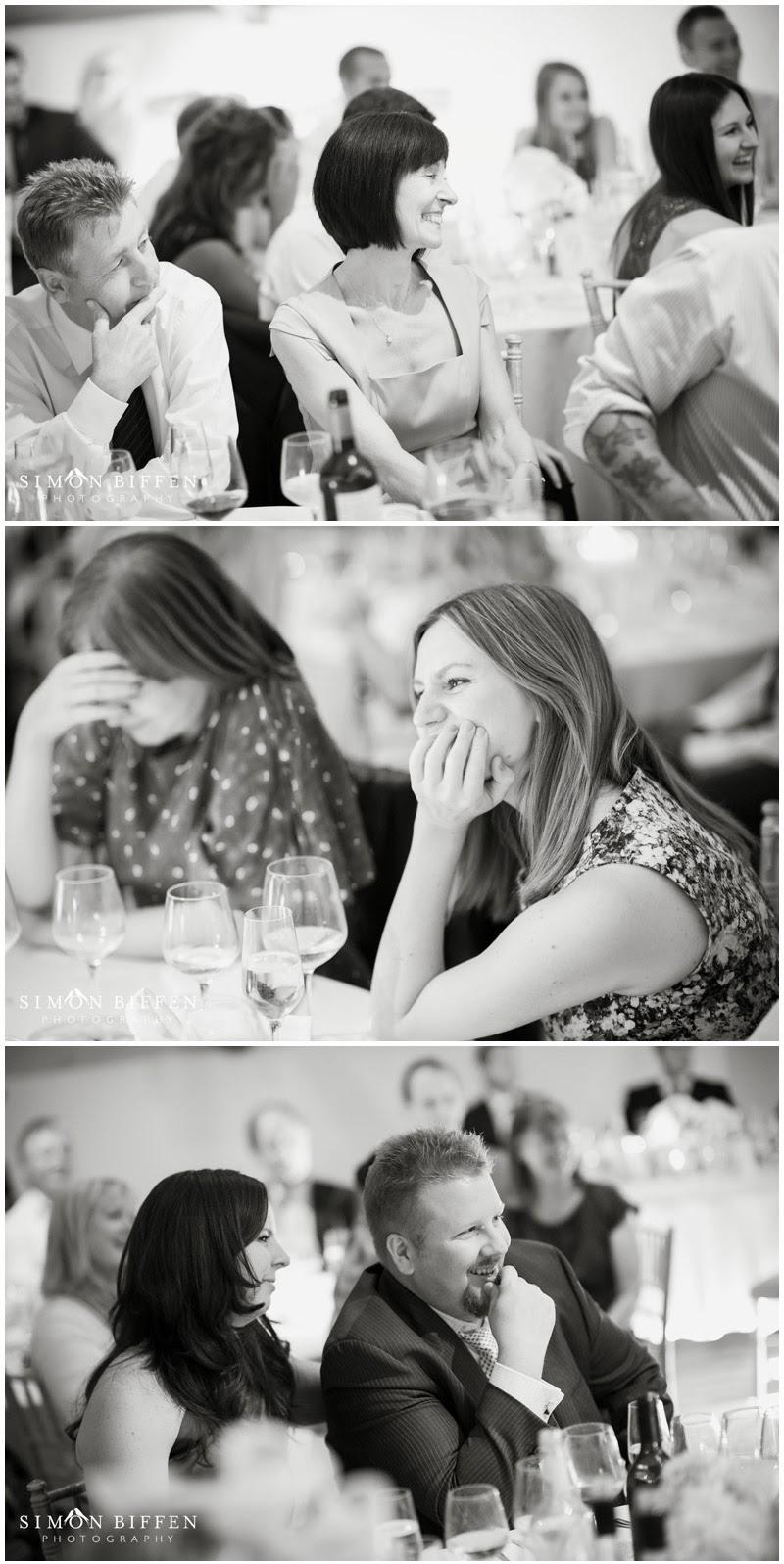 Guest reaction speeches