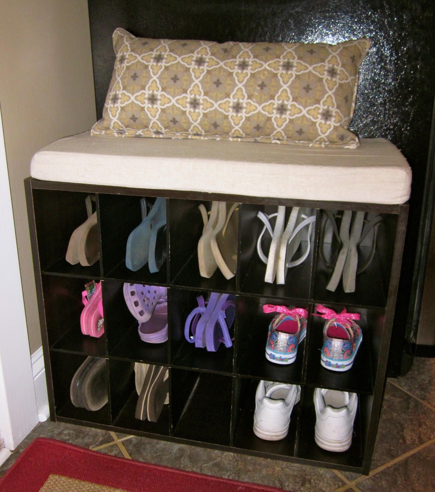 Home Decor blog bench shoe storage