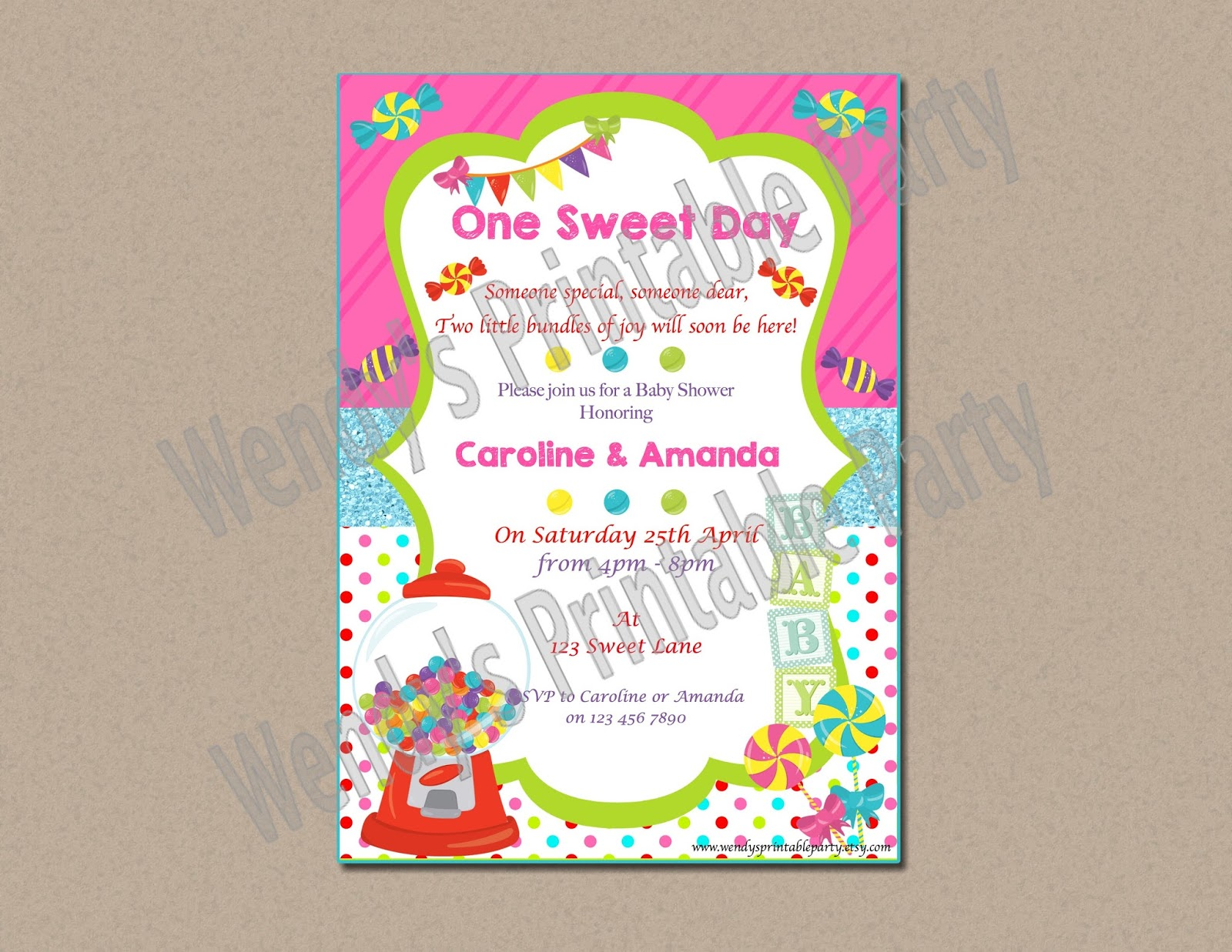 "Wendy s Printable Party ""Sweet Babies"" Themed Baby Shower"
