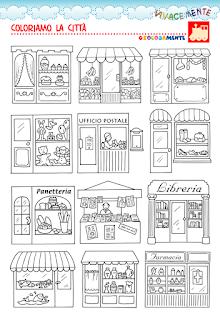 vivacemente con il cuore e con la mente: disegni di negozi e ... - Disegni Case Bambini