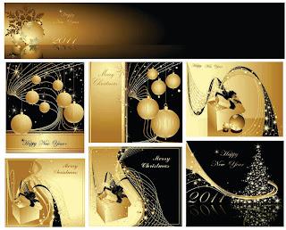 金色のクリスマスボールの背景 golden christmas background イラスト素材2
