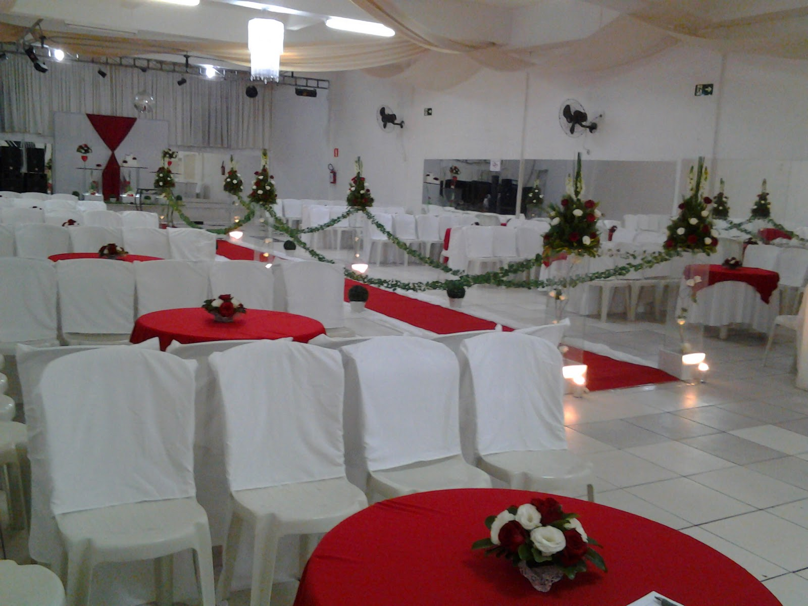 Decorações Decoração para Casamento Vermelho e Branco 1805