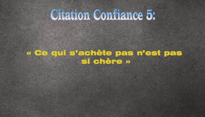 Citation Sur La Confiance