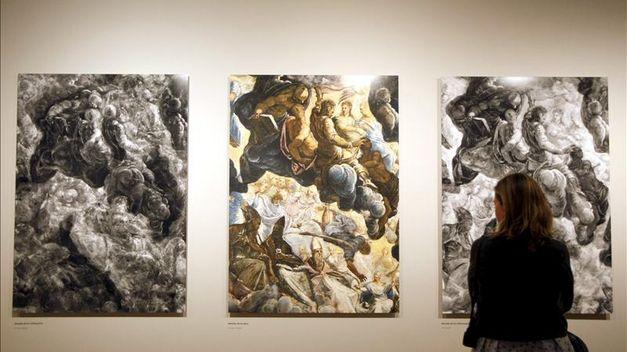 Restauración de El Paraíso de Tintoretto. Museo Thyssen