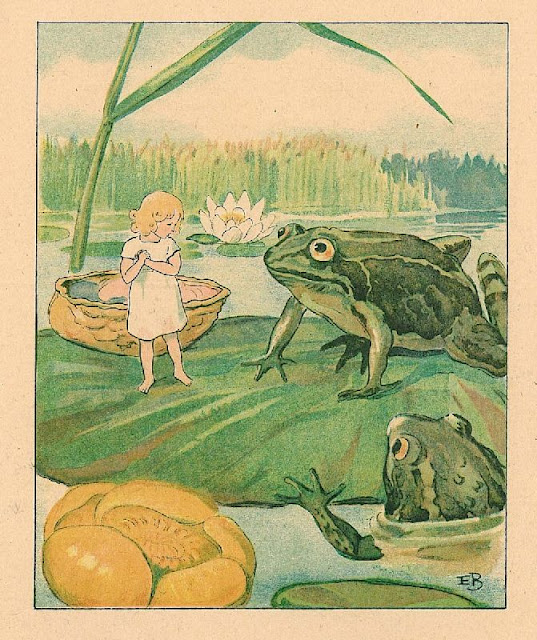 Elsa Beskow Thumbelina and toad