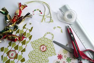 DIY Advent calendar / calendrier de l'Avent