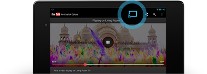 Enjoy online video and music on your TV : Google chromecast