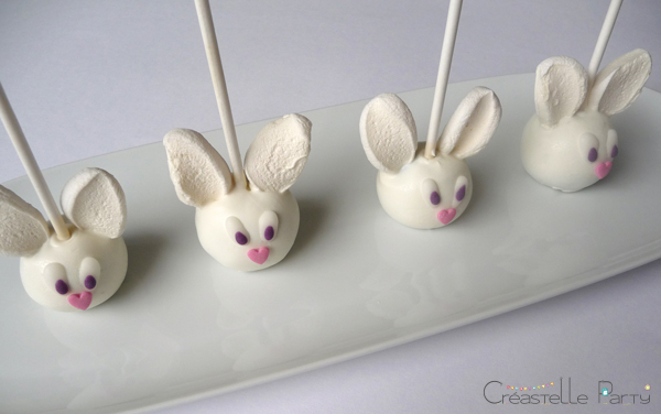 white rabbit cake pops
