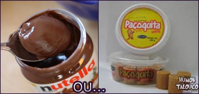 Nutella ou Paçoquita ?