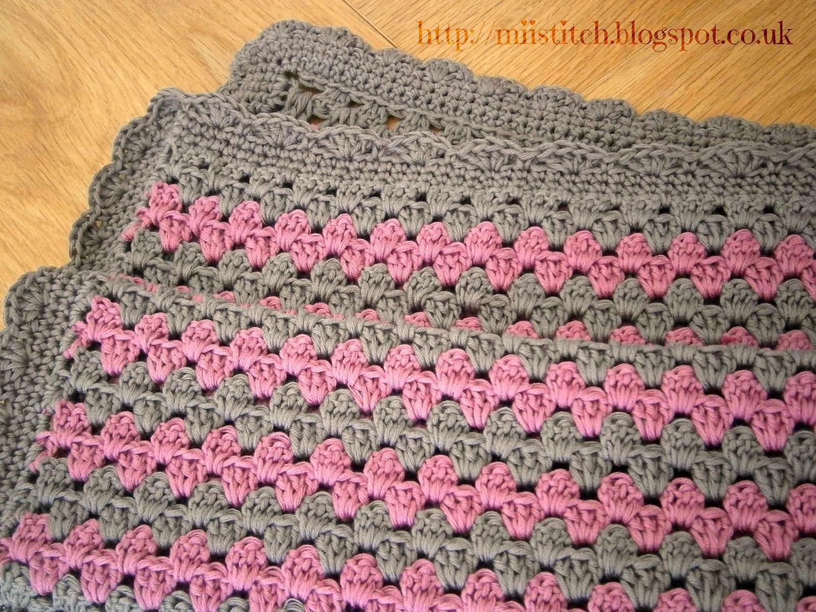 Crochet Pattern For Granny Stripe Baby Blanket : Granny Stripe Baby Blanket - Maybe Matilda