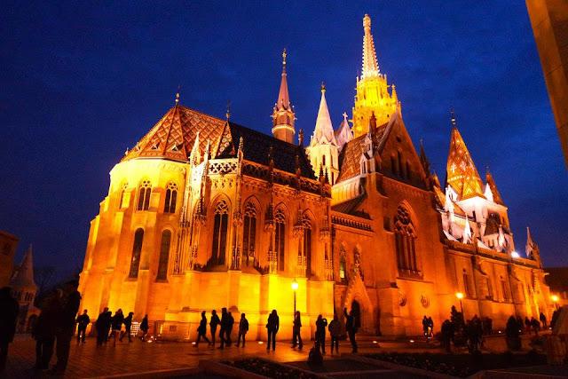 Night View of Buda Castle, Hungary