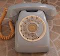 Telephone putar Biru