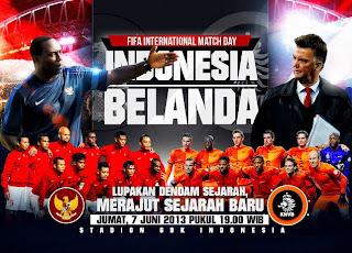 pencetak gol pertandingan Indonesia vs belanda