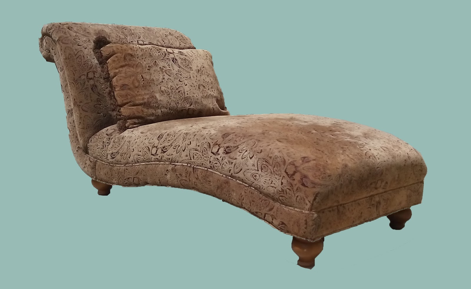 uhuru furniture collectibles curved paisley chaise. Black Bedroom Furniture Sets. Home Design Ideas
