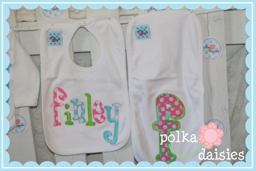 Polkadaisies boutique childrens clothing and gifts polkadaisies polkadaisiesstom personalized baby gifts name onesie ribbon beanie bib burp cloth negle Choice Image
