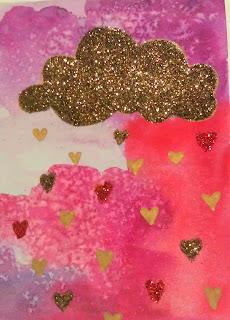 glitter cloud card