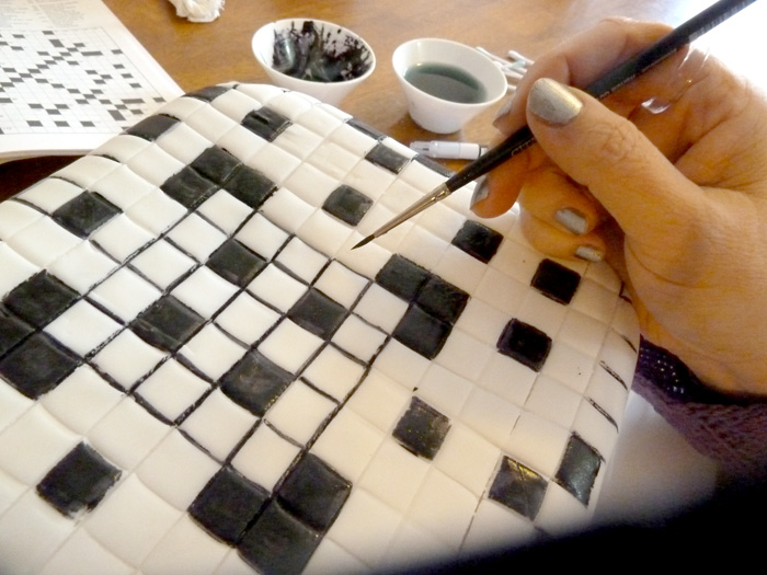 Puzzling: How to Make a Crossword Cake