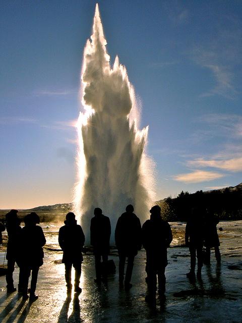 géiser Strokkur, Islandia