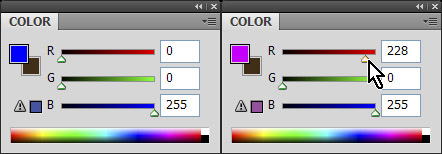 Choose color with dynamic color sliders turned off in Photoshop