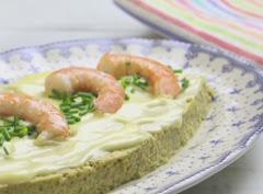Receta de cocina : pastel de alcachofas y langostinos