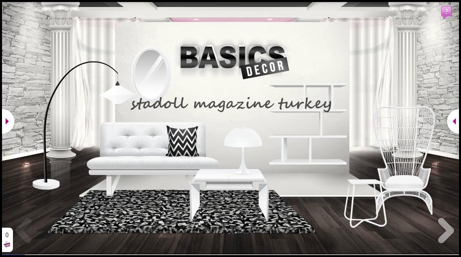 Basic dekor siyah beyaz stardoll magazine turkey for Dekor turkey