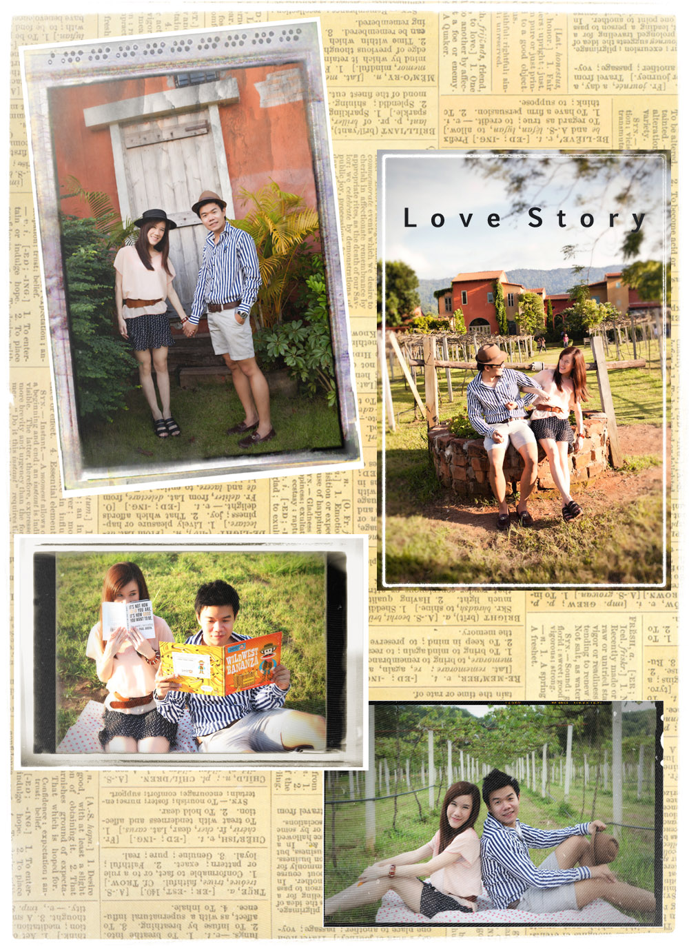 Sweet And Cute Couple Scrapbook
