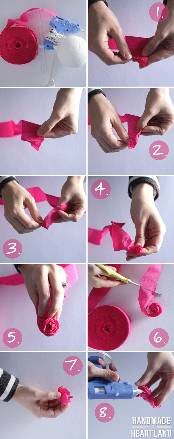Diy Tissue Paper Roses Handmade In The Heartland