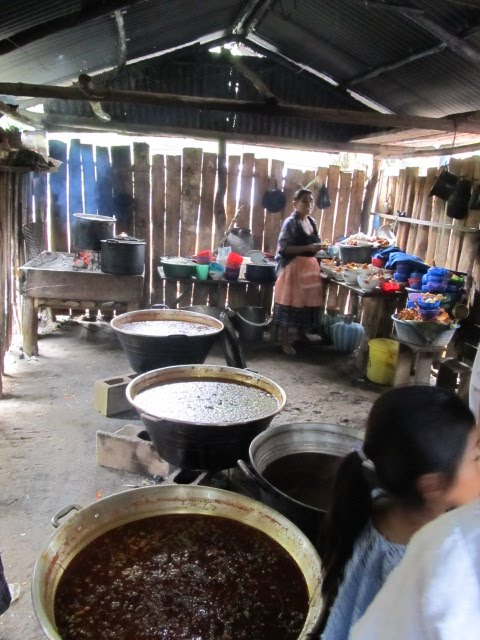 Kitchen full of the feast cauldrons