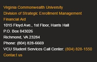 visit the VCU financial aid office for your college needs