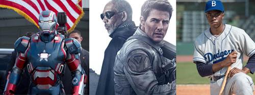 Iron Man 3, Oblivion, 42 Jackie Robinson Biopic