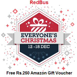 Book on redBus and get an Amazon.in gift card worth Rs.250