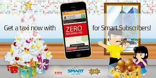Easy Taxi Zero Booking Fee for Pinoy using Smart, Sun and Talk N Text