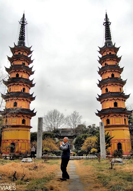 pagodas gemelas de suzhou