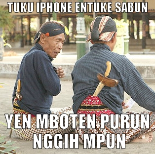 Meme iPhone Sabun