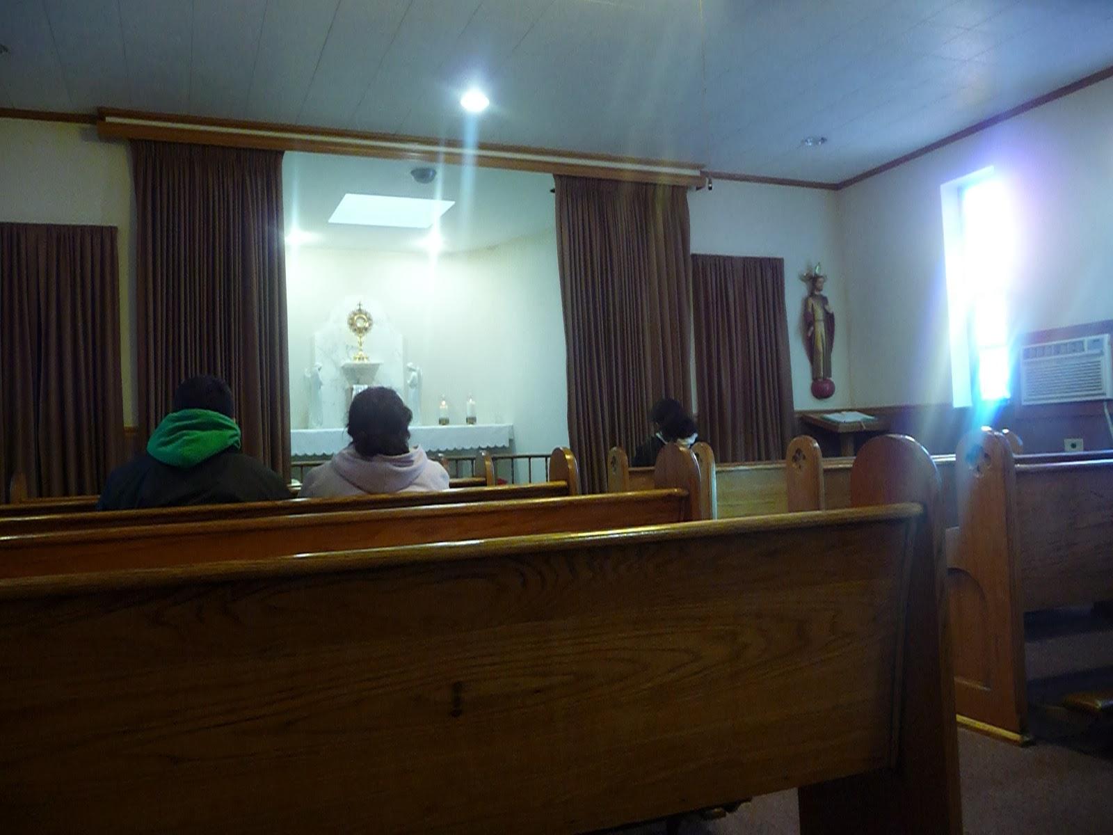 Perpetual Eucharistic adoration chapel, St. John Vianney, Northlake, IL
