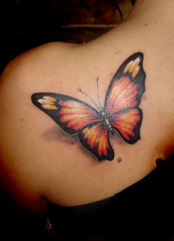 at 04 02 labels beautiful tattoos butterfly tattoos on shoulder title=