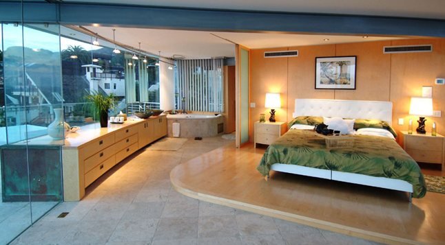 Picture of large modern bedroom in the beach house