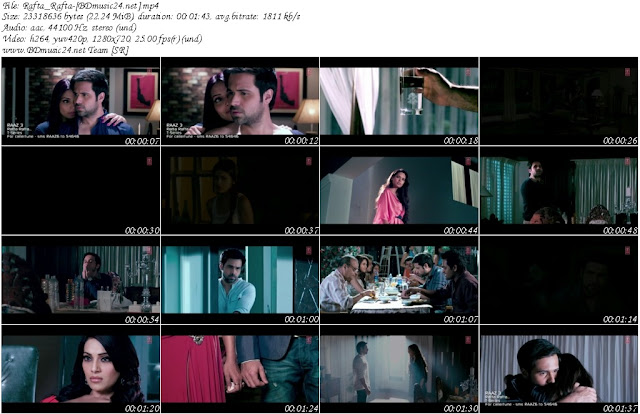 Rafta Rafta Song Raaz 3 2012 720p HD Video Song Download