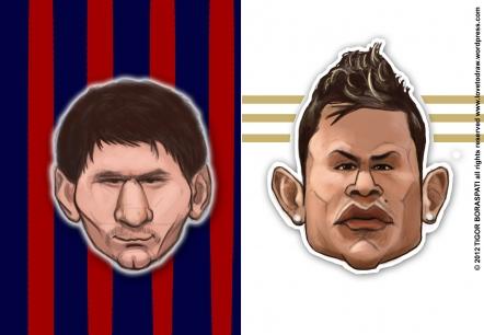 Ronaldo Vs Messi 2012 Wallpaper