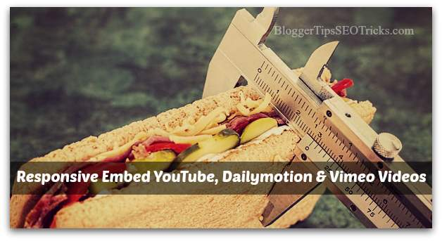 how to embed responsively youtube videos in blogger