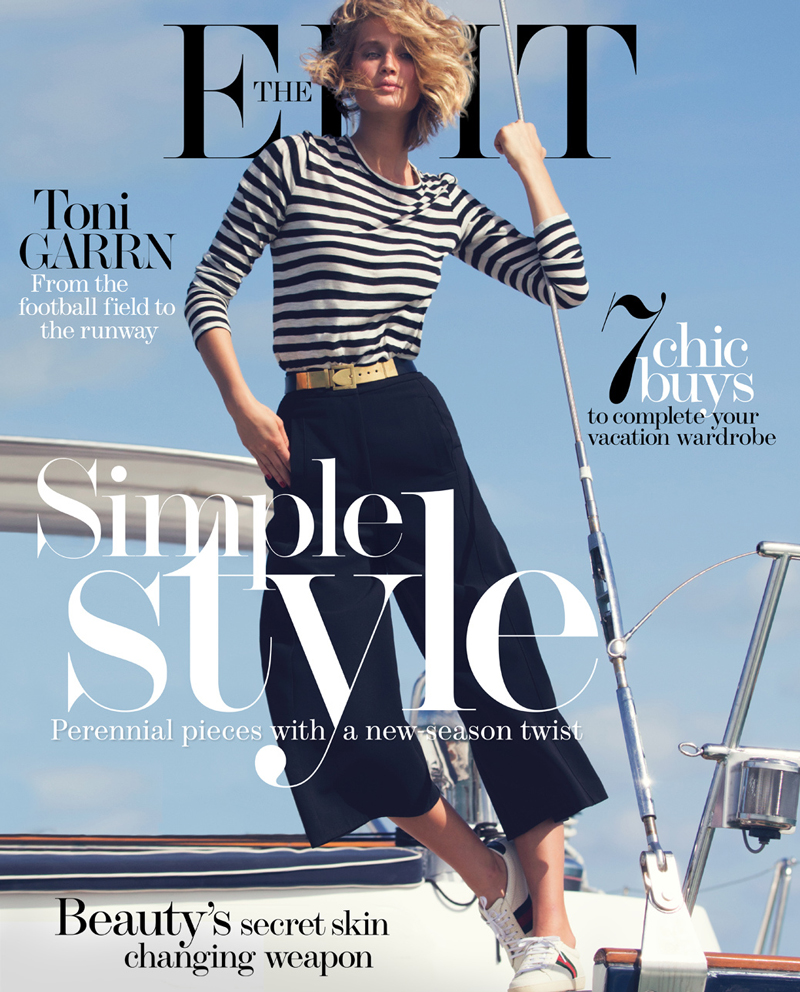 Toni Garrn in The Edit July 2014 (photography: David Bellemere) via fashioned by love british fashion blog